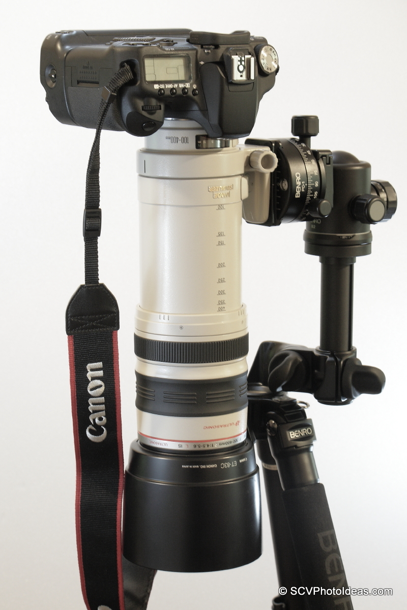Alternative Gimbal Head w/ Canon EF 100-400 L IS USM & Canon EOS 50D nadir