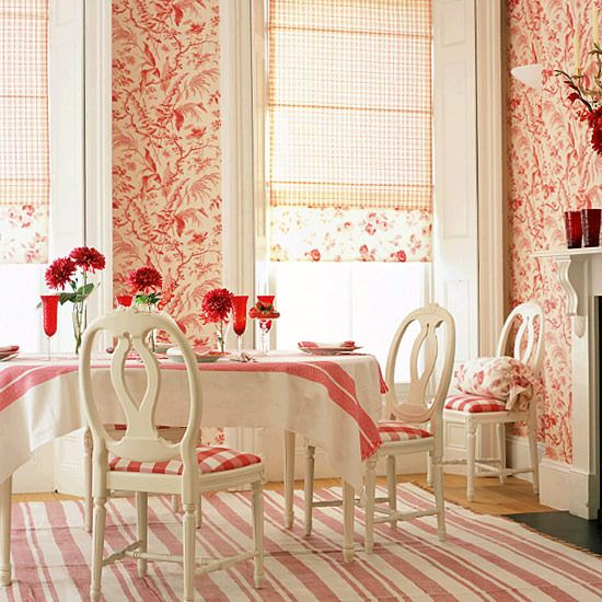 Hydrangea hill cottage pretty papered dining rooms Pretty dining rooms