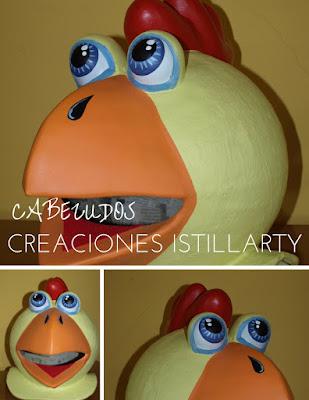 cabezudos creaciones istillarty ojos de pollo