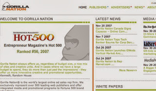 Gorilla nation  CPM ad network