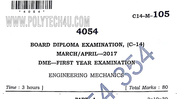 engineering machanics question papers c-14 dme