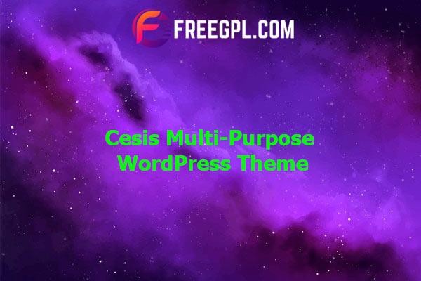 Cesis | Responsive Multi-Purpose WordPress Theme Nulled Download Free