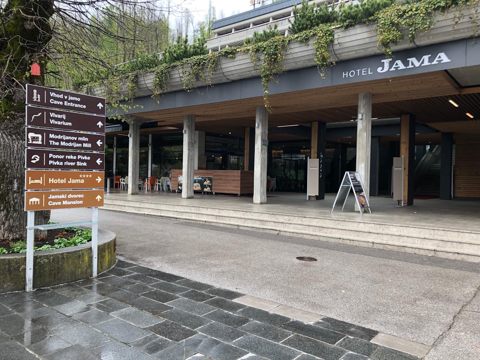 Hotel Jama next to the Postojna cave