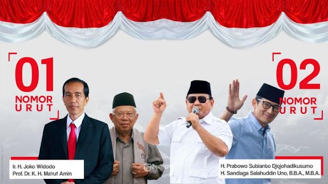 Ini Visi Misi Jokowi-Ma'ruf vs Prabowo-Sandi di Pilpres 2019
