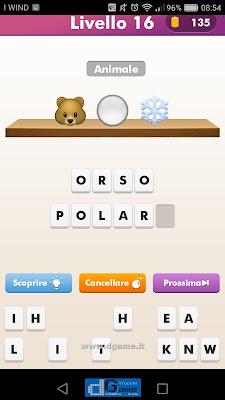 Emoji Quiz soluzione livello  16