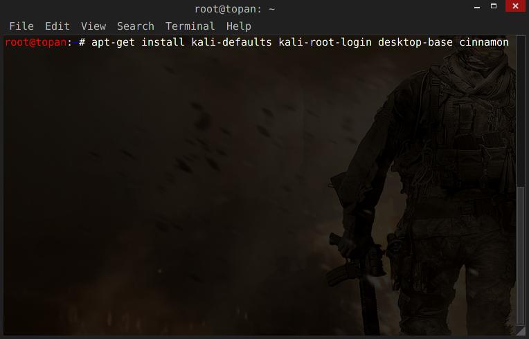 Cara Install Cinnamon Desktop Kali Linux