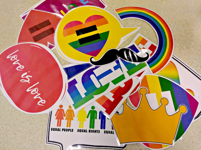 Celebrating PRIDE Month at Work {free photobooth printables}