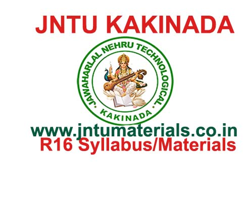 Jntuk B Tech 4 1 Sem R13 Materials Amp Lecturer Notes