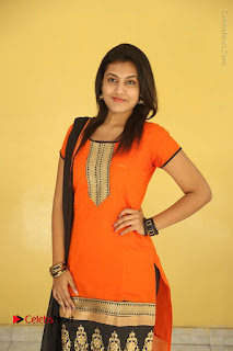 Telugu Actress Chandana Stills in Salwar Kameez at Karam Dosa Movie Press Meet  0024.JPG