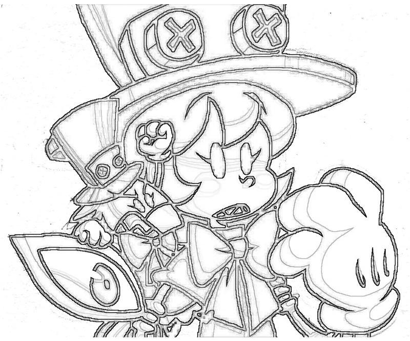 Skull girls characters coloring pages ~ Skullgirls Peacock Sketch | Mario