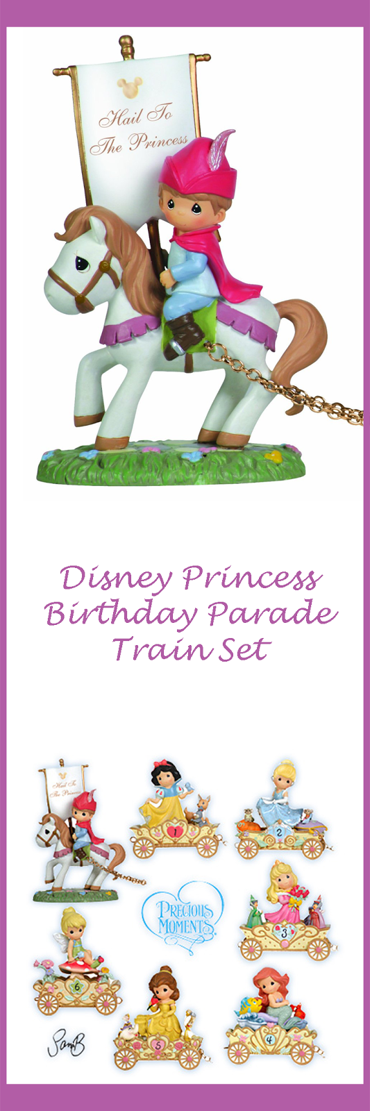 Precious Moments Disney Princess Birthday Parade Train Set