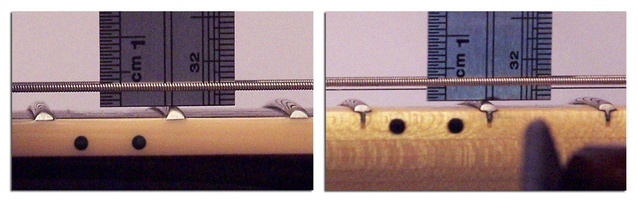 Medidas de la Altura de las Cuerdas en Guitarra Eléctrica