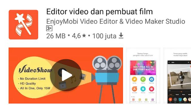 Videoshow, aplikasi Android terbaik untuk mengedit video