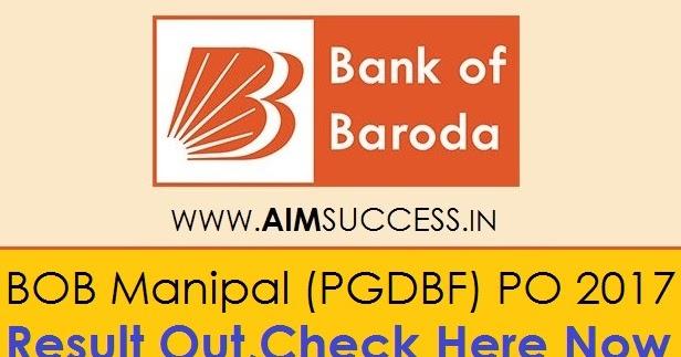 bank of baroda manipal po result 2013-14