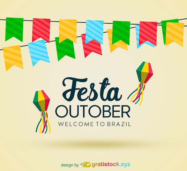 Free Download PSD Of Beautiful Festa Outober Design With Garlands