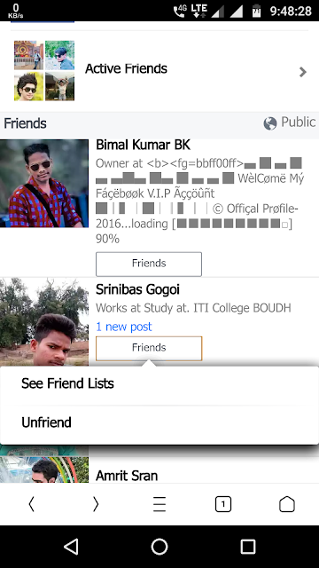 how to unfriend all friends in facebook using mobile | kese Facebook ke sare friends ko ekhi bar me unfriend kare