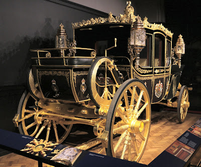 Diamond Jubilee State Coach at Royal Mews, Buckingham Palace