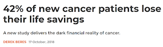 Cancer patients lose their life savings in US