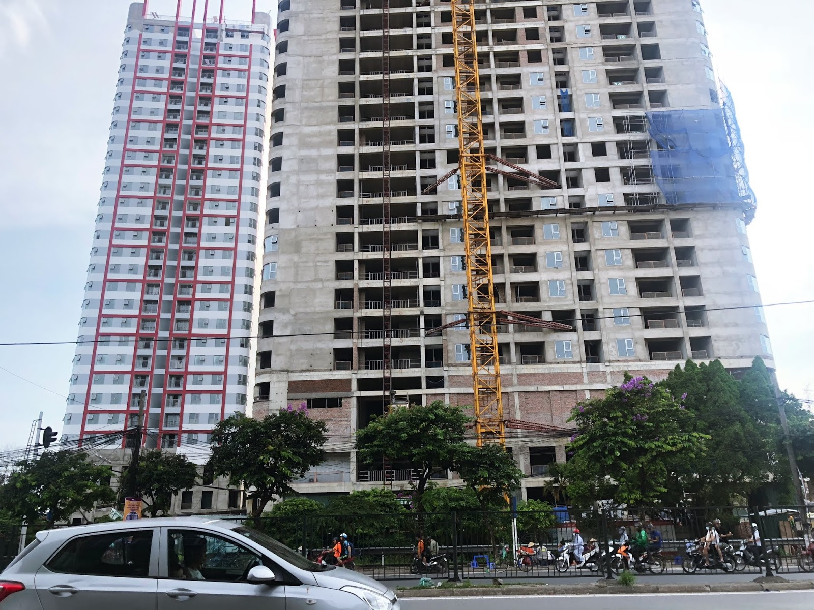 Cận cảnh toà Ip2 chung cư Imperial Plaza