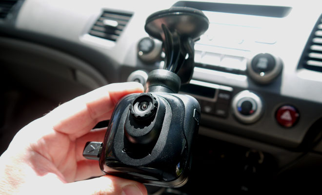 Garmin Dash Cam 20 lens-side view