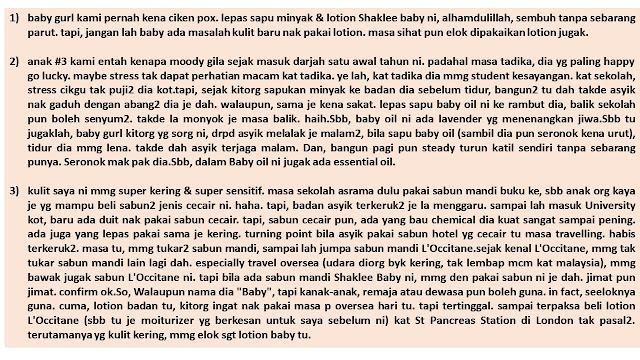 testimoni shaklee baby untuk kegunaan seisi keluarga