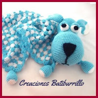 Manta de apego perro a crochet