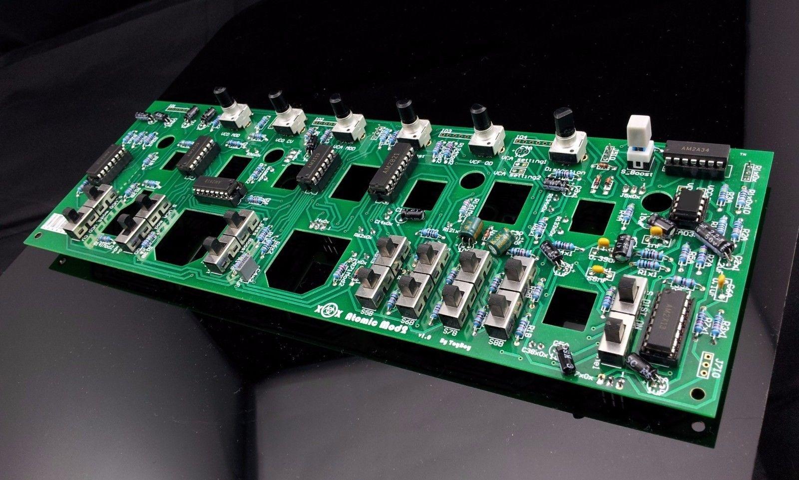 MATRIXSYNTH: x0xb0x Atomic Mod II un-assemble DIY kit for xoxbox