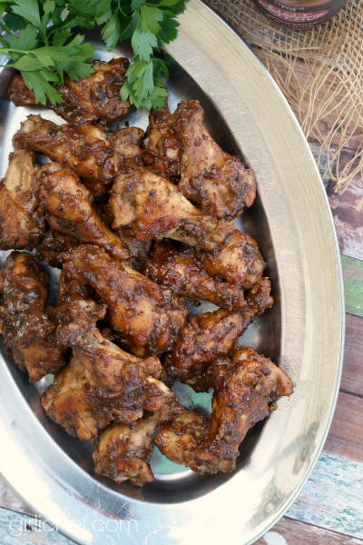 Spiced Fig and Garlic Chicken Wings #10DaysofTailgate #chickenwings #appetizer