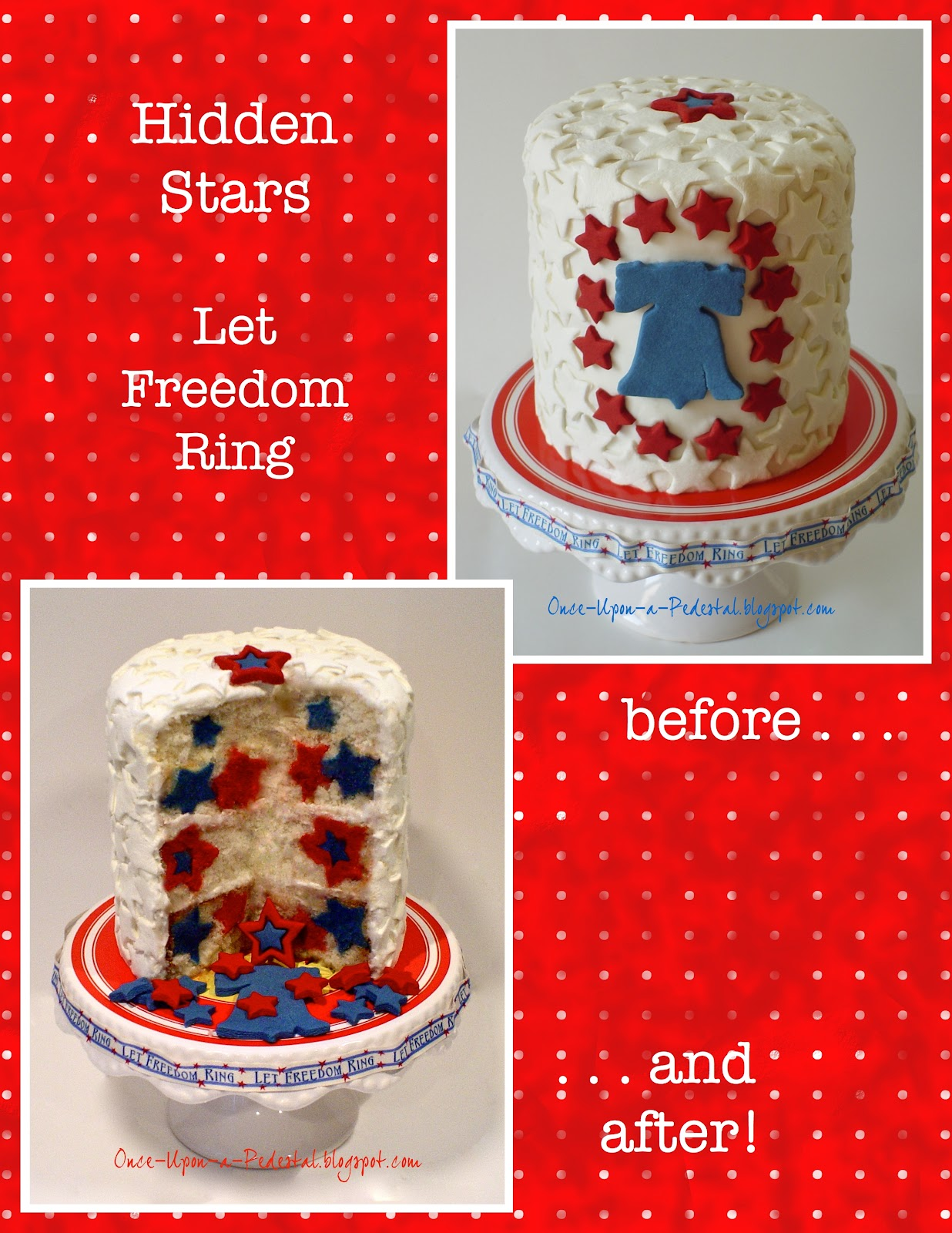 Once Upon A Pedestal: Surprise Inside Cake - Hidden Stars ...