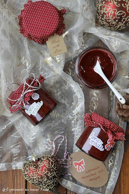 Weihnachtsmarmelade mit Marzipan | Frühstück | Weihnachten | Geschenke aus der Küche
