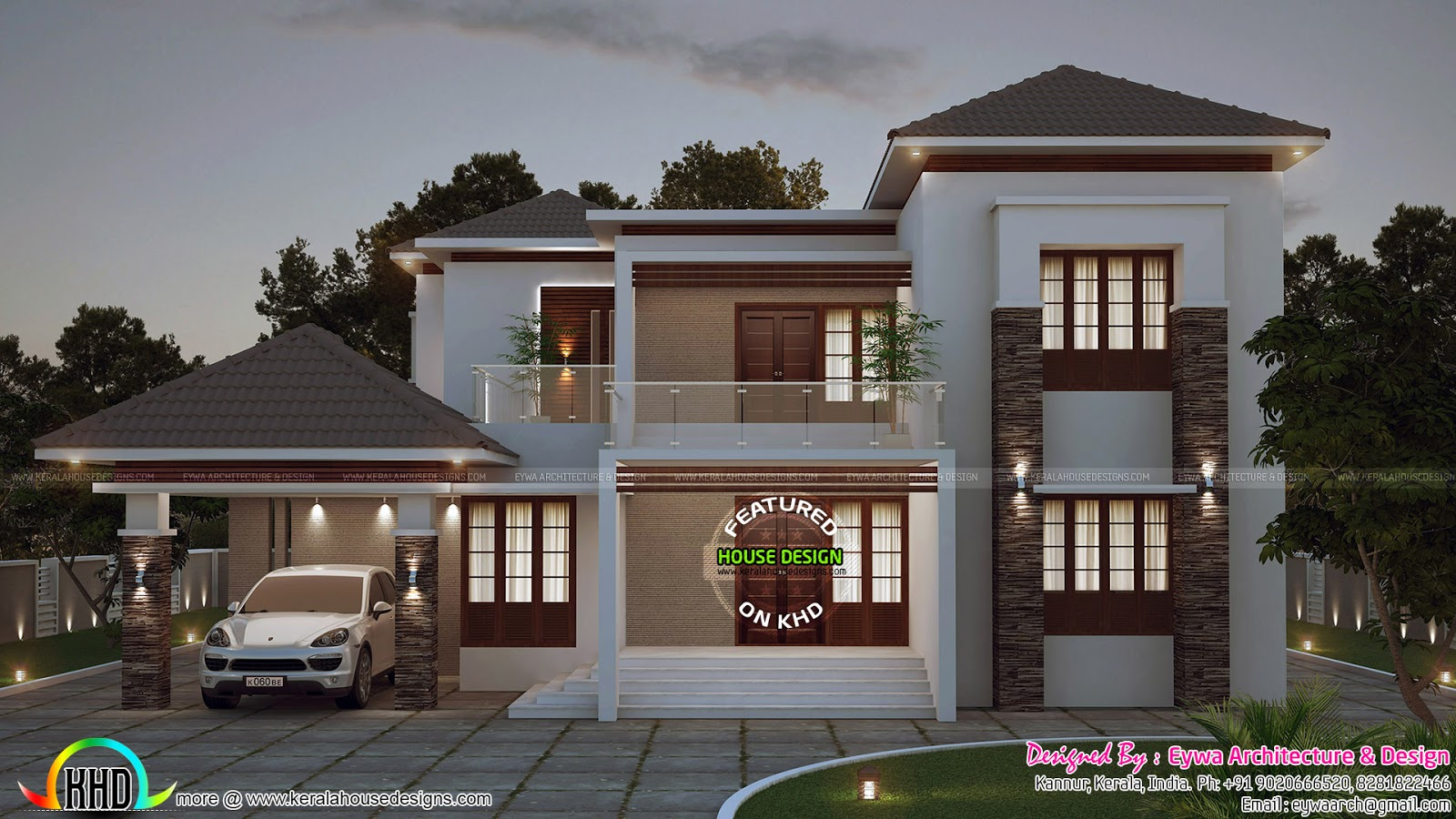 Front elevation of duplex house in 700 sq ft for Duplex house front elevation pictures