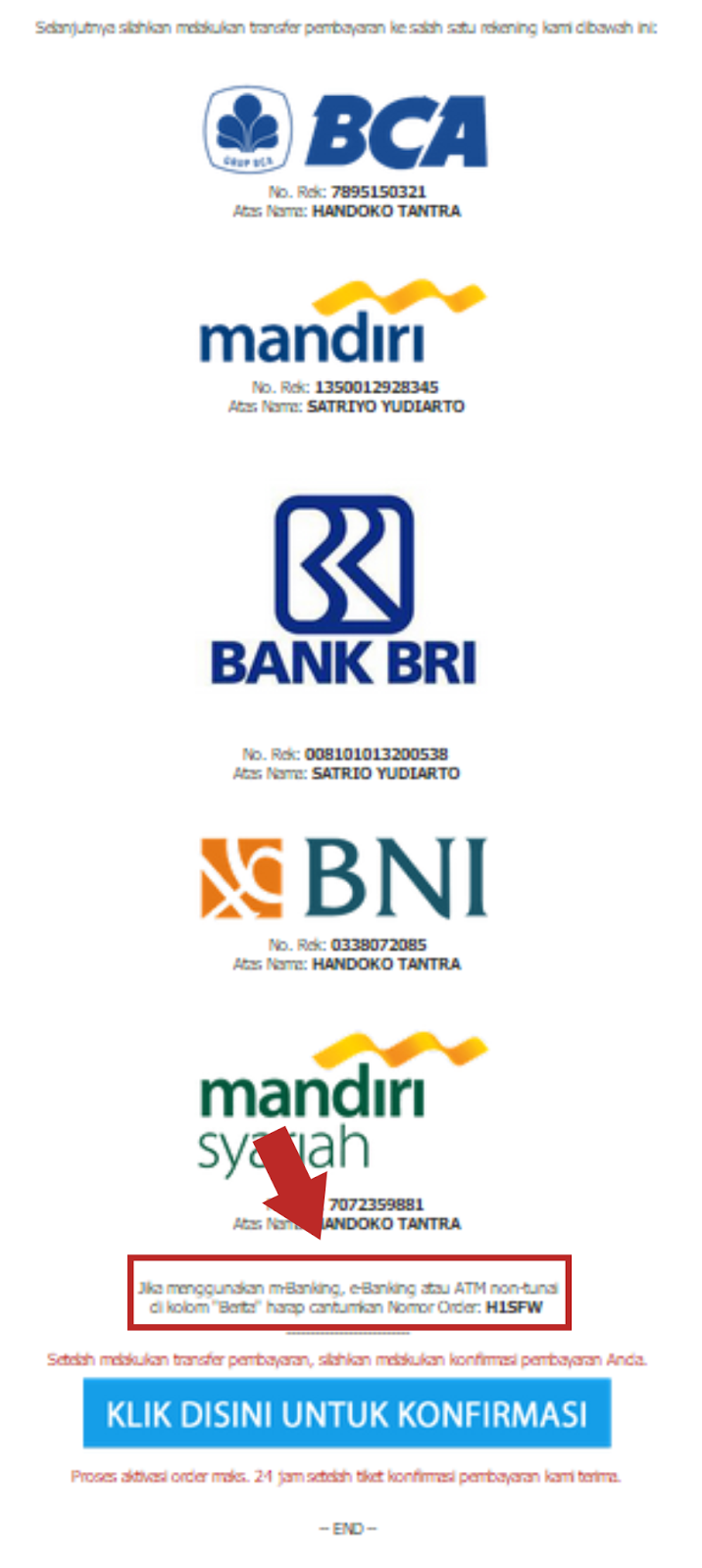 Pengalaman transaksi di ratakan.com, step by step transfer via bank lokal