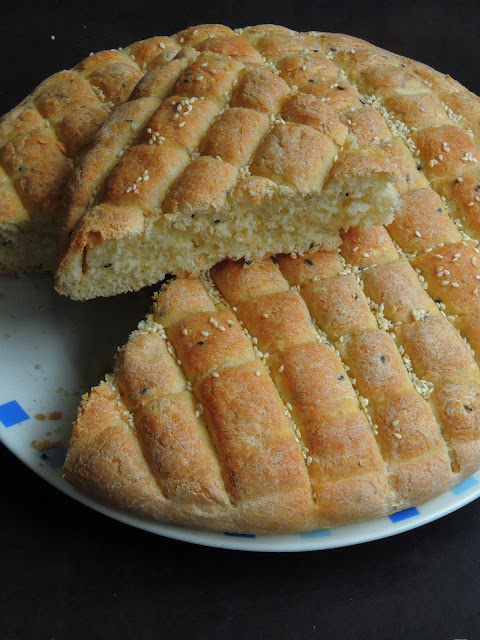 Moroccan Decorated Bread, Moroccan Khobz