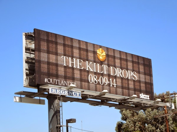 Outlander Kilt Drops teaser billboard