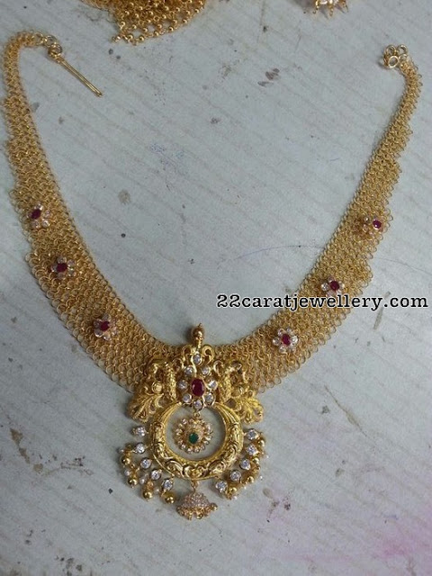 Latest Fancy Grand Mesh Necklaces