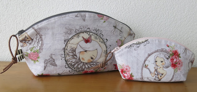 Luna Lovequilts - Petal pouch by Noodlehead in large and small sizes