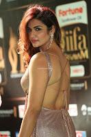 Telugu Actress Aarthi in Deep Neck Backless Golden Gown at IIFA Utsavam Awards 2017 Exclusive 18.JPG