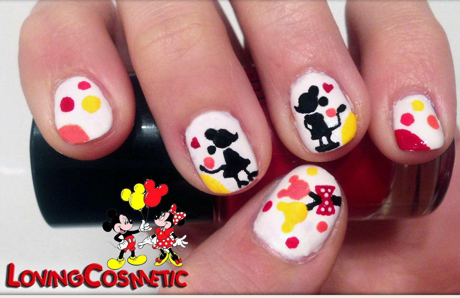 Nail Art Mickey Minnie Love Lovingcosmetic