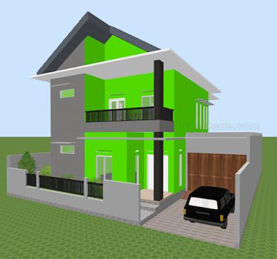 Desain Rumah Islami Minimalis 2 Lantai