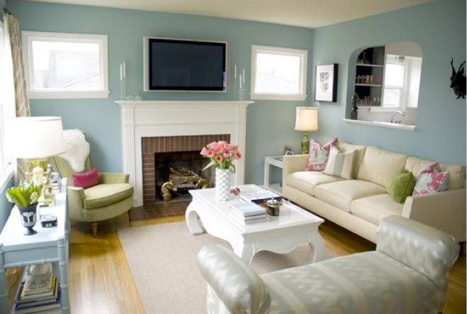 lovely blue green living room | Design Gem: Lovely Living Room + Lovely Colors
