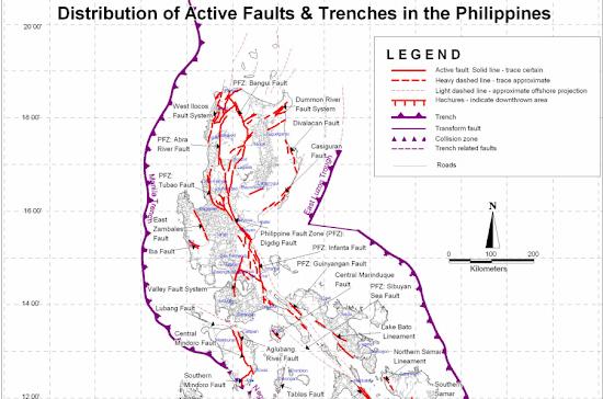 PHIVOLCS Philippine Fault Line Map