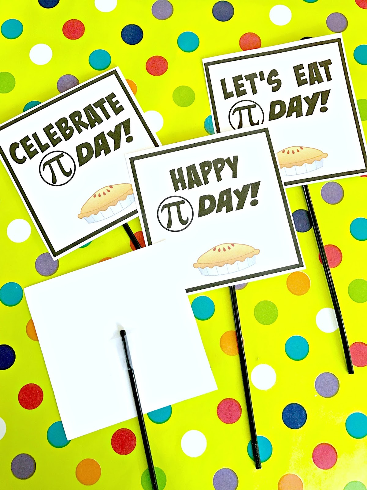 michelle paige blogs: pi day party with free printables