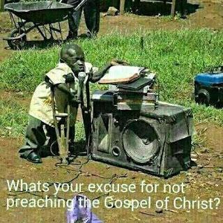 a crippled man preaching the gospel