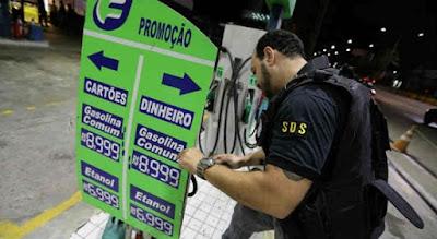 Posto do Pina que cobrou R$ 8,99 pelo litro da gasolina é interditado