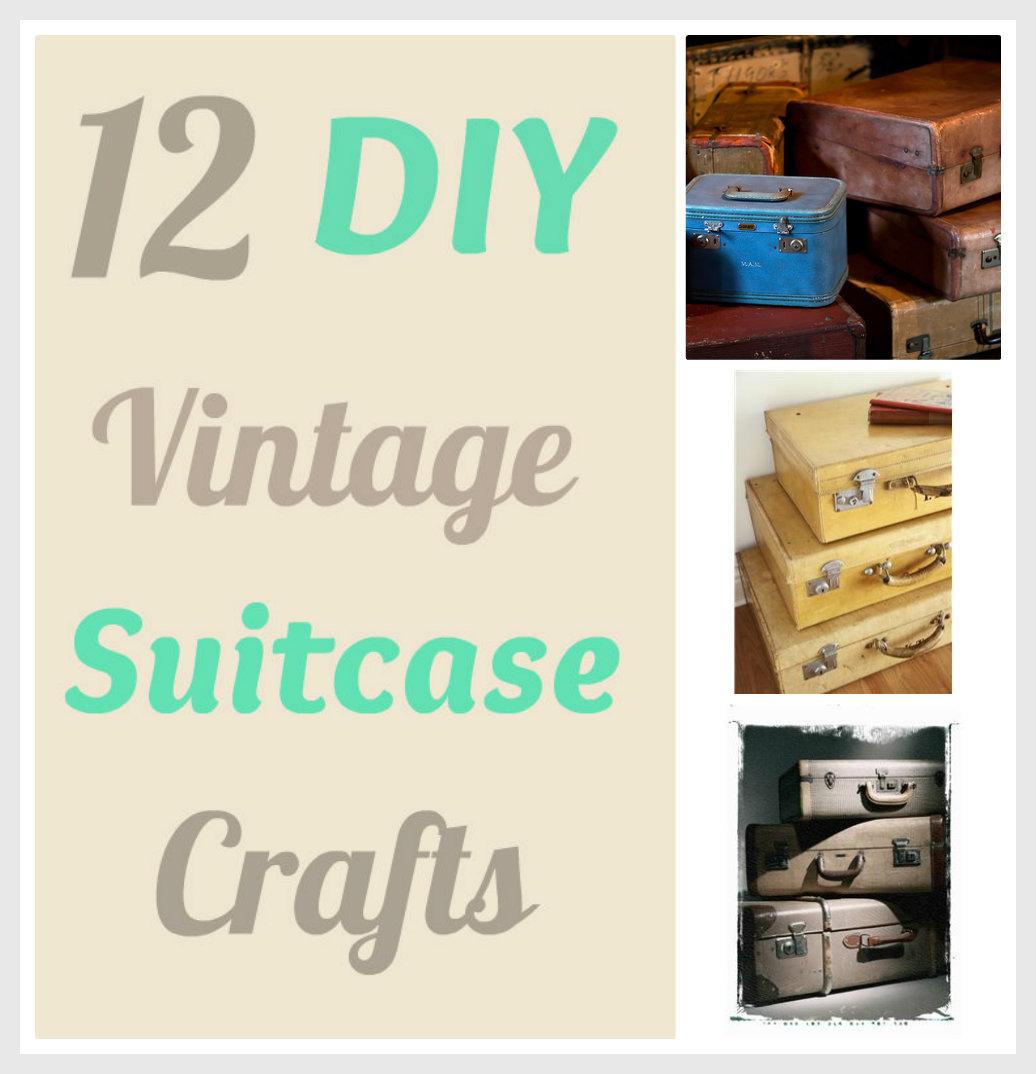 life with 4 boys 12 diy vintage suitcase crafts. Black Bedroom Furniture Sets. Home Design Ideas
