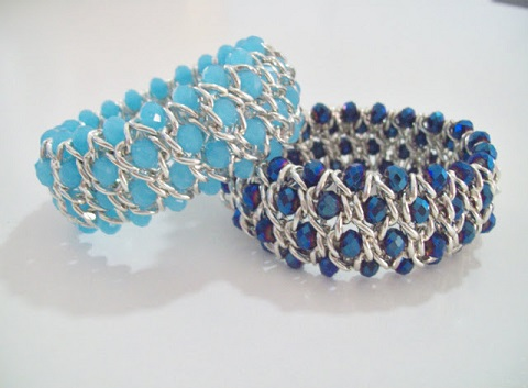 how to make cross chain and bead bracelet