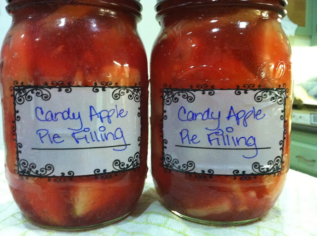 canning with red hot candies