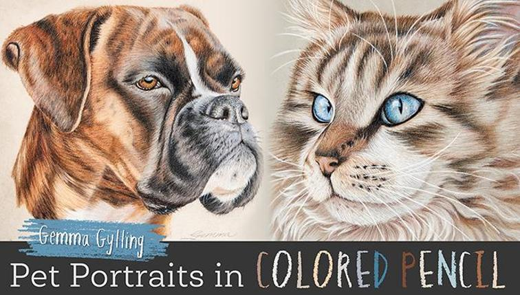 Pet Portraits in Colored Pencil Video