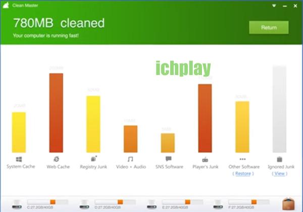 Tải Clean Master Cho PC, Laptop Windows 7, 8, 8.1, 10 XP miễn phí b