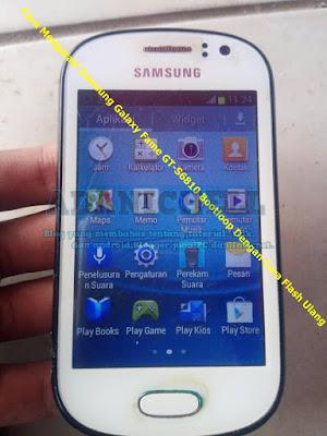 Cara Mengatasi Samsung Galaxy Fame GT-S6810 Bootloop Dengan Cara Flash Ulang